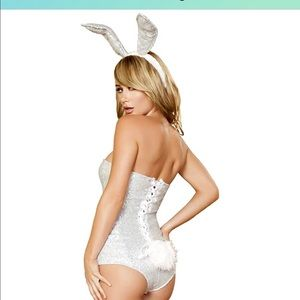 NEW playboy bunny silver costume